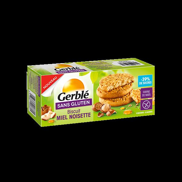 Gerble Sans Gluten Biscuits Miel Noisette à Teneur Reduite en Sucres