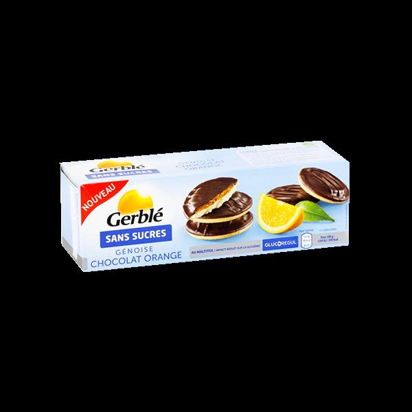 Gerble Sans Sucres Génoise Chocolat Orange