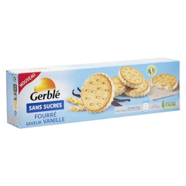 Gerblé Sans Sucre Biscuits Fourrés Vanille 185