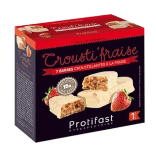 Protifast Barres Crousti'Fraise 7 unités