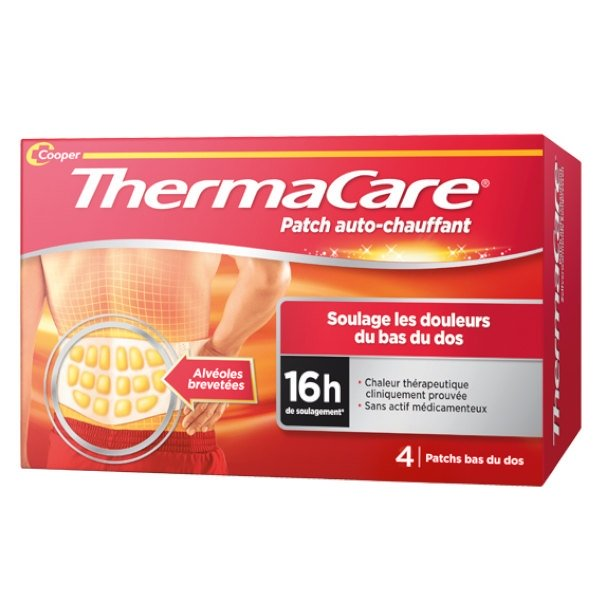 Thermacare Patchs Chauffants Dos boite de 4