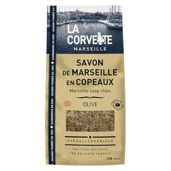 La Corvette Marseille Savon de Marseille Copeaux Olive