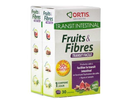 Ortis Fruits et Fibres 30 comprimés Lot de 2 boites
